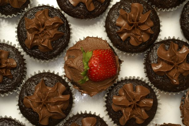 Vegan cupcakes by Carol Glasser.  Photo by Christopher Marcum.
